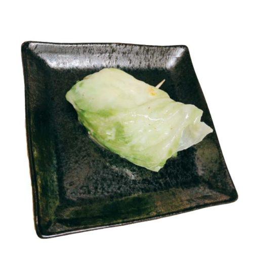 豆腐のレタス巻背景なし